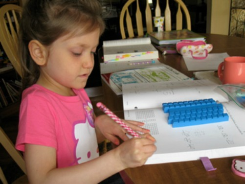 My youngest, hard at work.