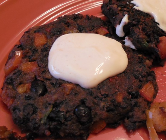 black bean patty